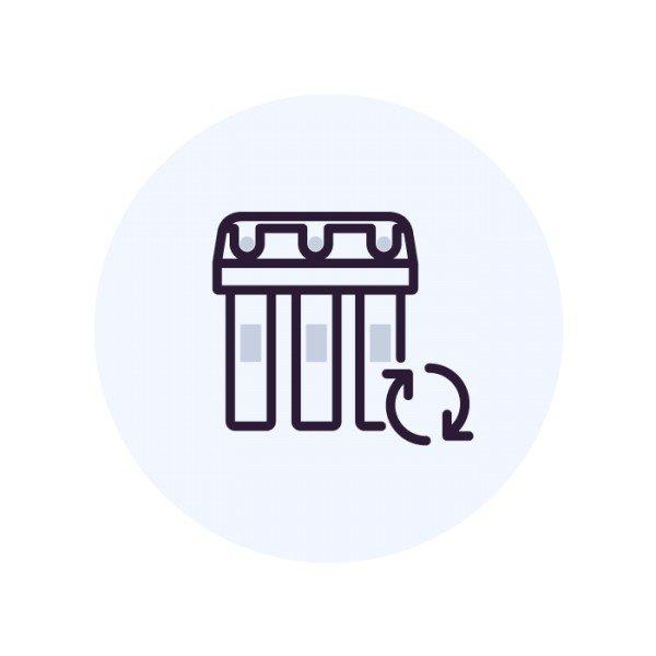 Промывка накопительной емкости Осмо