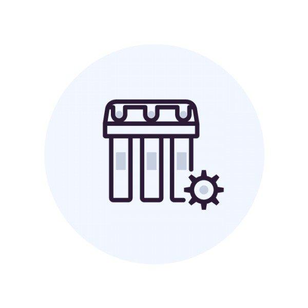 Подключение фильтра к кофемашине или льдогенератору
