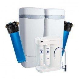 Умягчитель Аквафор WaterMax AKQ + Гросс 2 шт. + Морион + Соль 2 мешка